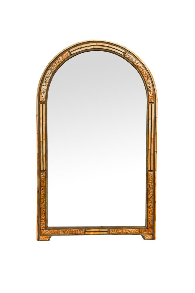 Espejo Marroquí Arco Dorado