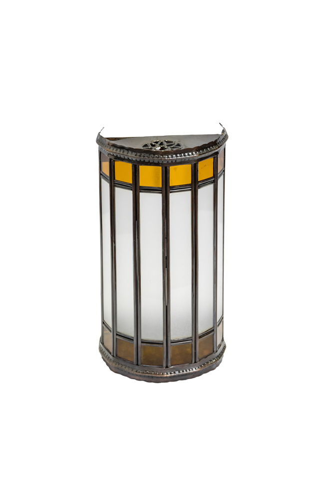 Cylindrical Moroccan wall lamp yellow, 29 Cm