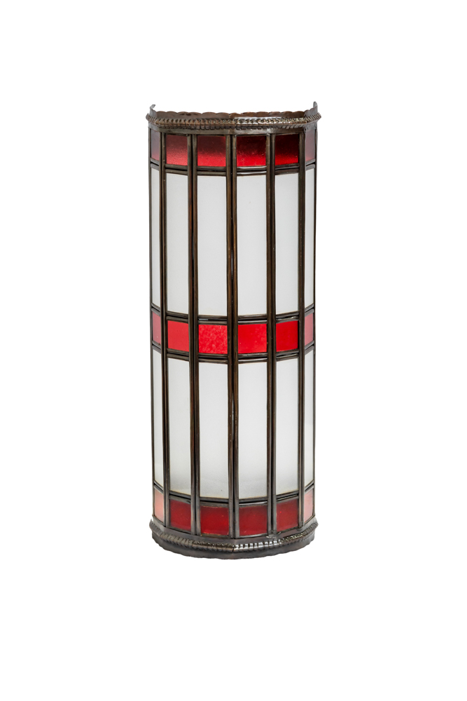 Cylindrical Moroccan wall lamp red, 38 Cm