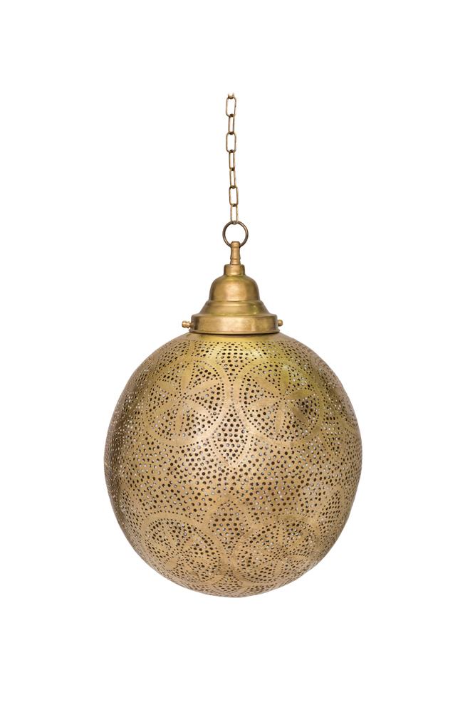 Lámpara colgante tradicional Marroquí en bronce-22 Cm