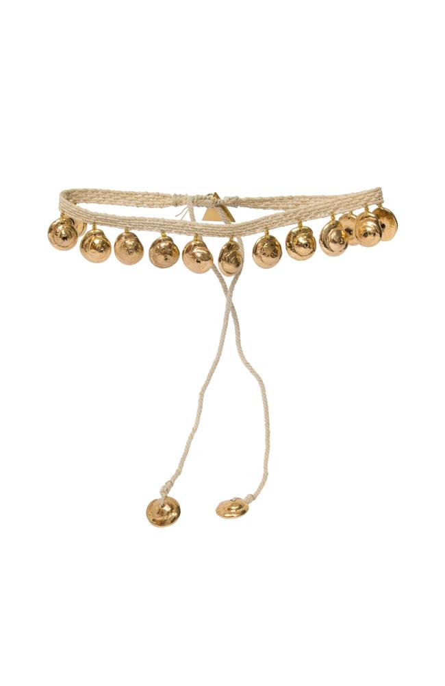 Choker Snail Tip Gold Pendant