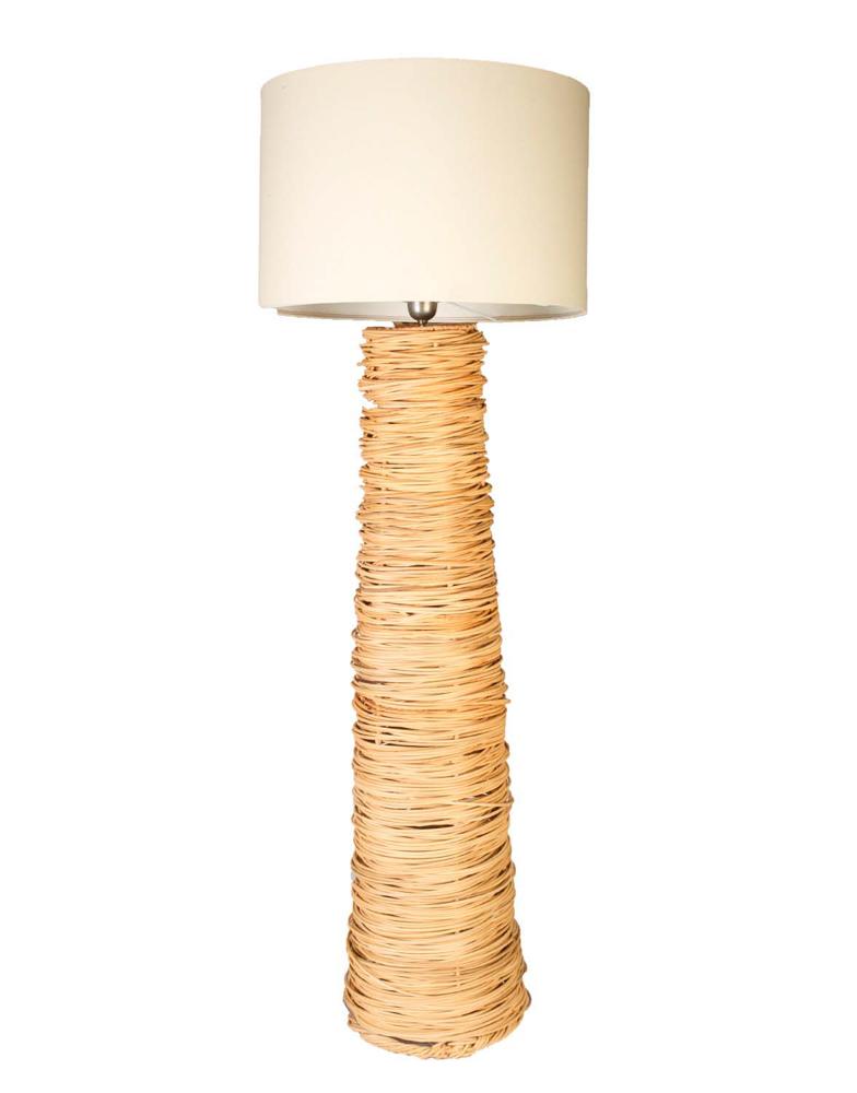 Lámpara de pie rattan,162 Cm