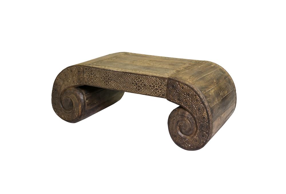 Mesa de centro en madera Timor café