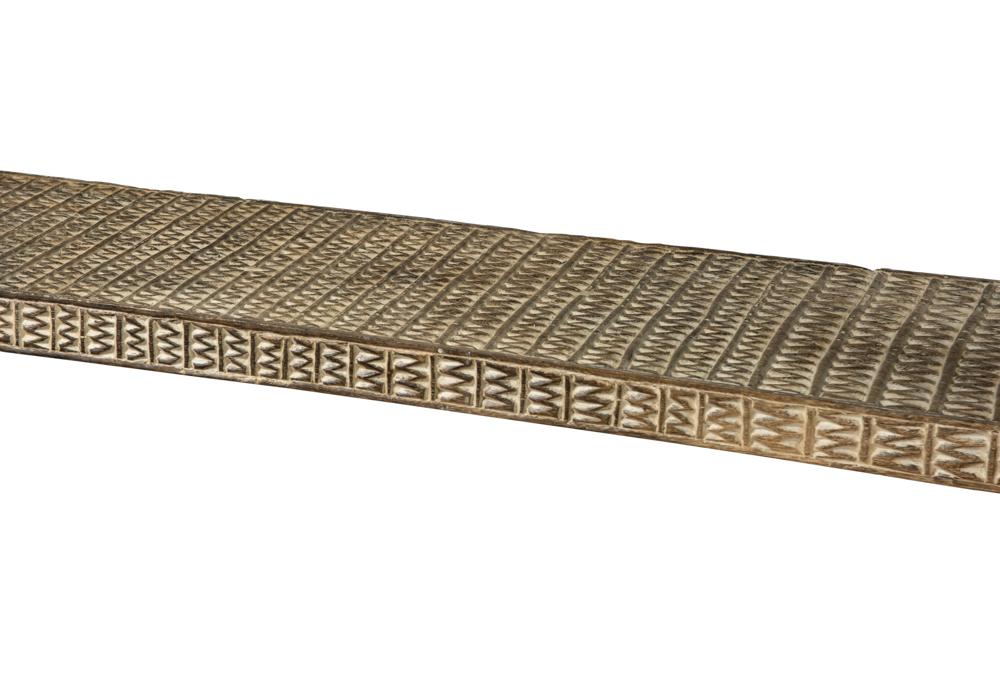 Banca madera tallada Timor, 200 Cms