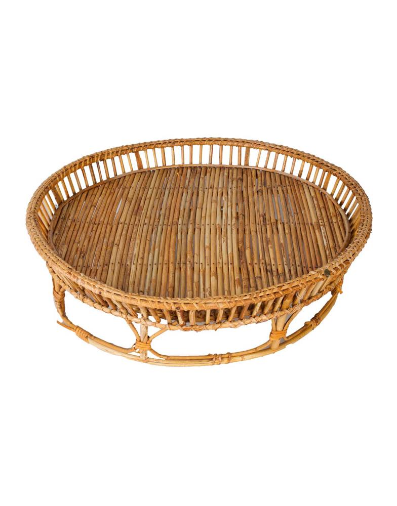Bandeja redonda en Bamboo,52 Cm