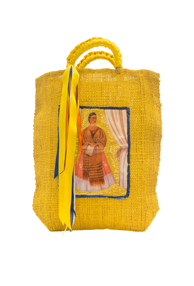 Bolso artesanal Mexicano, Amarillo