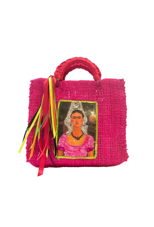 Bolso artesanal Mexicano, Fucsia