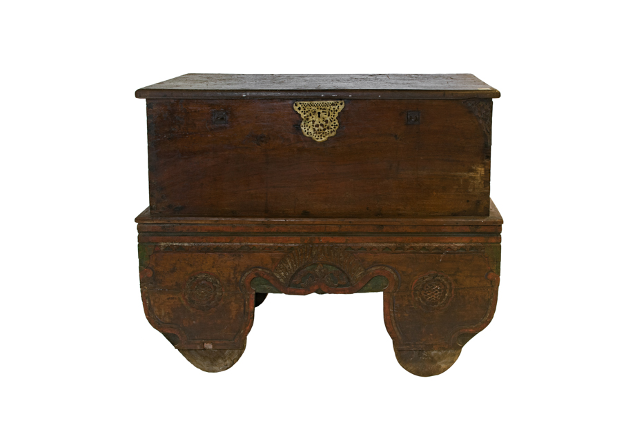 Antique Java wooden trunk