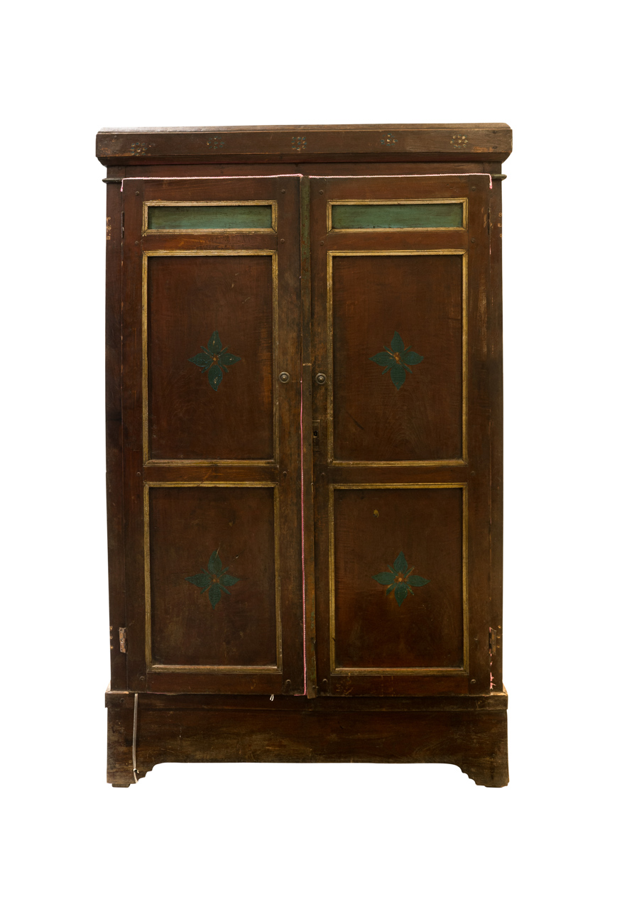 Indonesian wooden cabinet with flower design