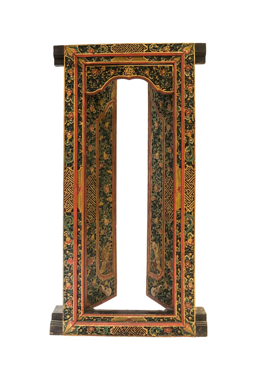 Shanghai carved wooden door