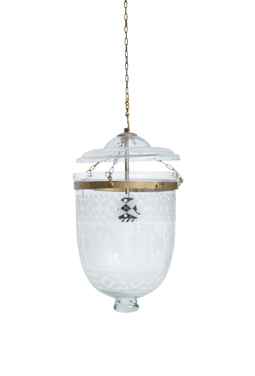Lámpara de colgar de vidrio Hundí