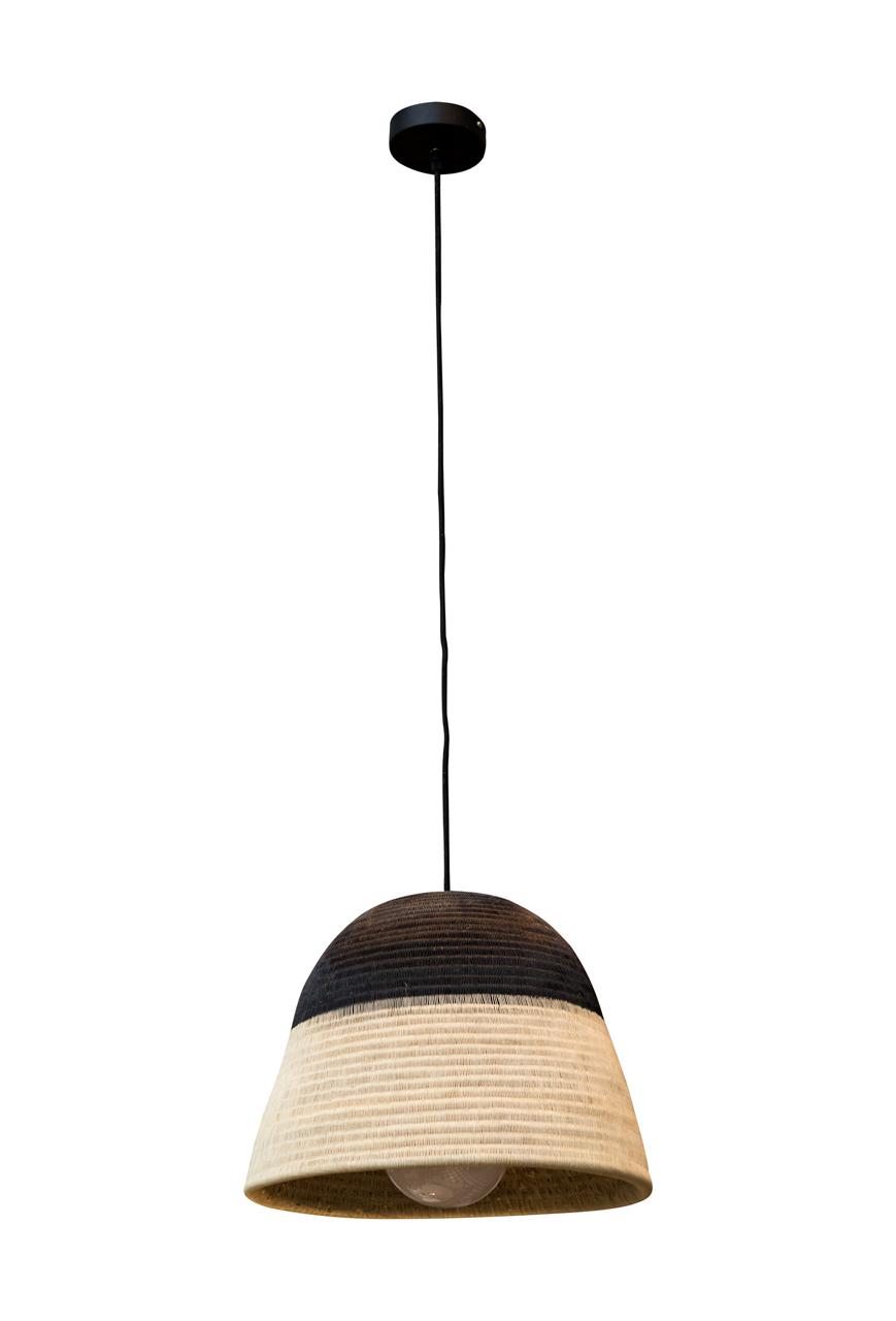 Lámpara de colgar Werregue, natural-negro