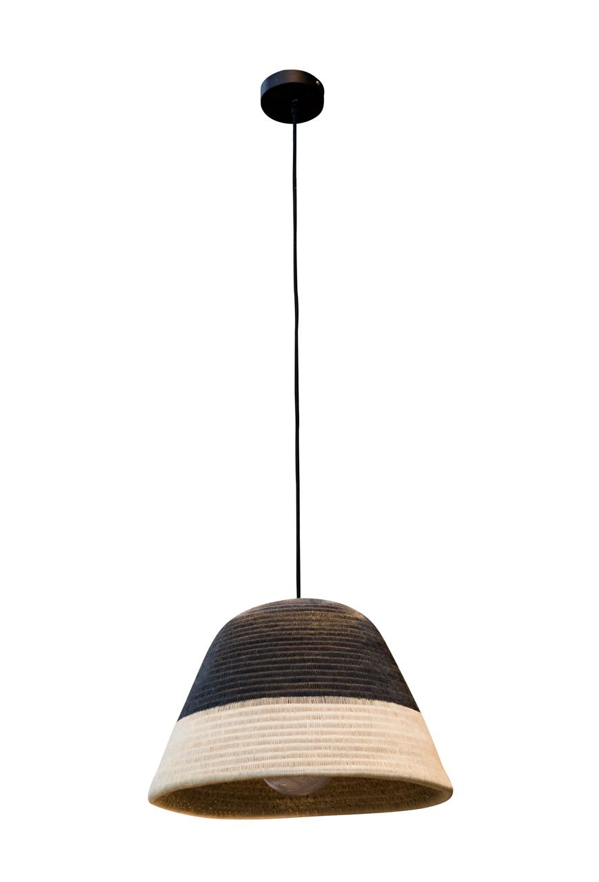Lámpara de colgar Werregue, negro-natural
