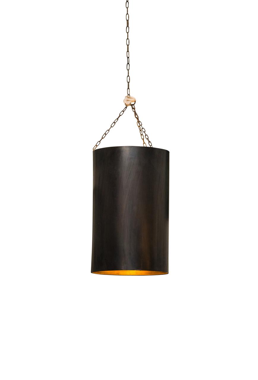 Lámpara de colgar cilíndrica Marroquí en lámina de metal