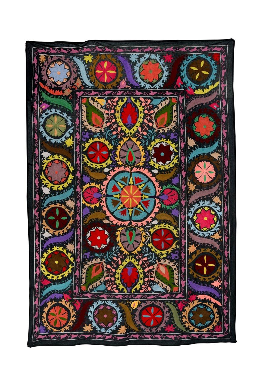 Decorative Suzani Tulips of colors