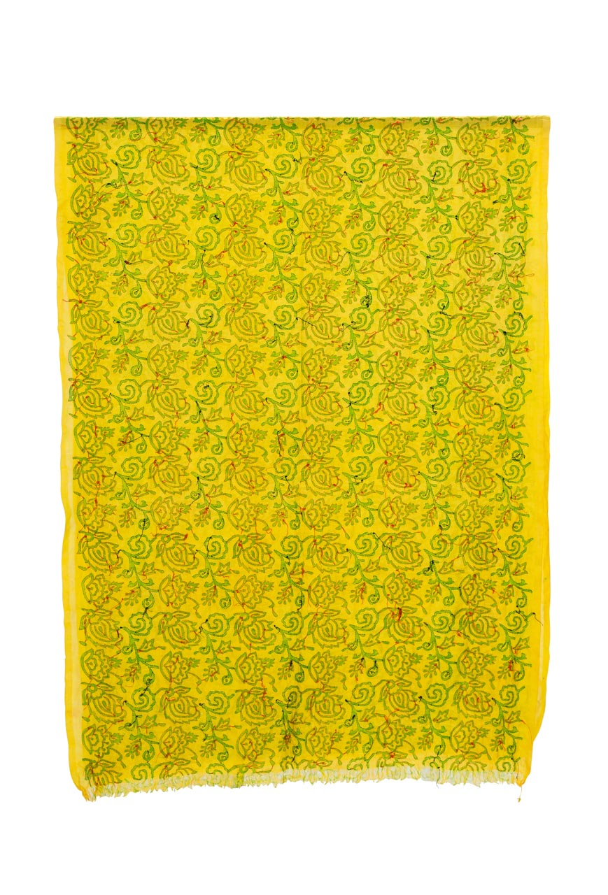 Tela decorativa India Floral amarillo