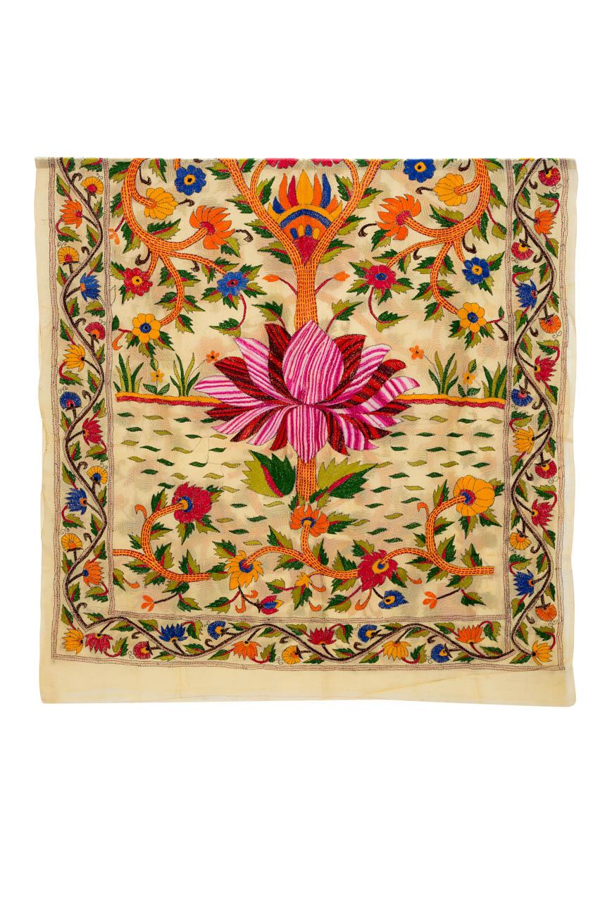 Decorative fabric India Lotus flower