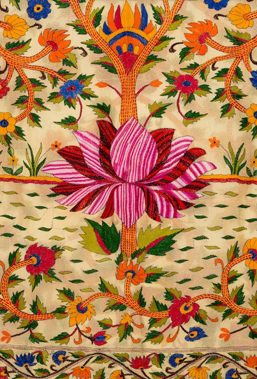 Tela decorativa India Flor de loto