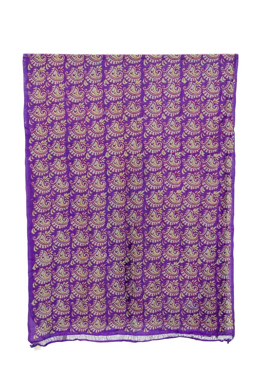 Decorative fabric India Floral purple
