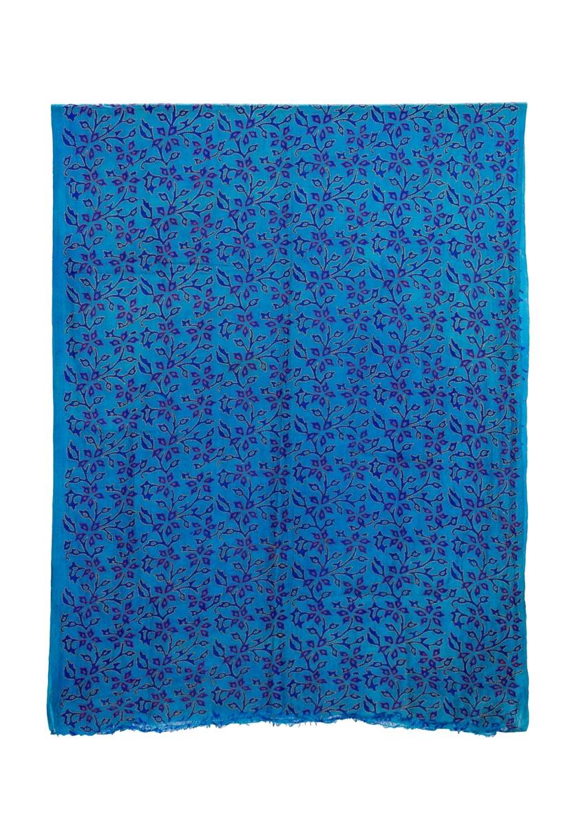 Decorative fabric India Floral blue