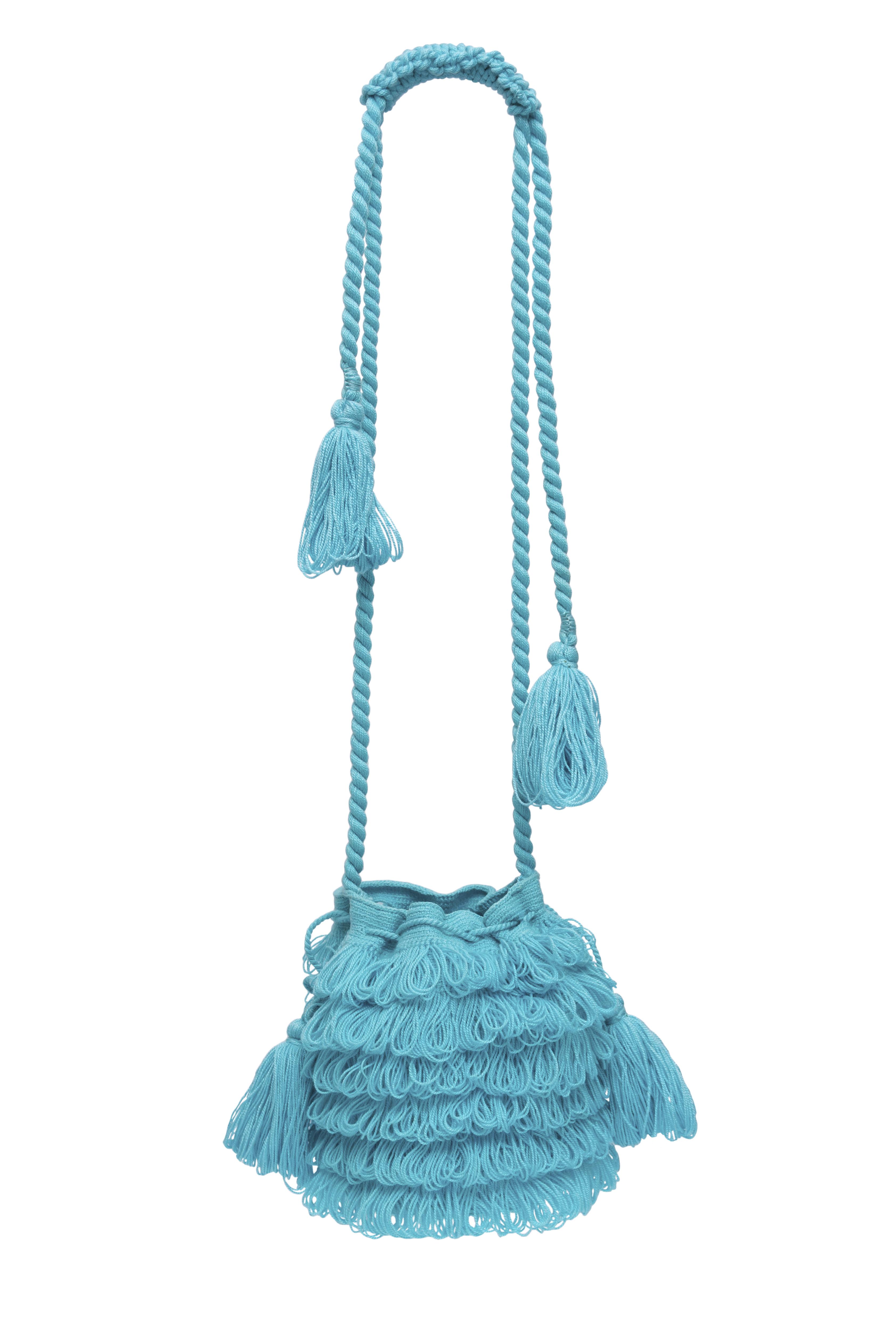 Mochila Bigotes azul turquesa