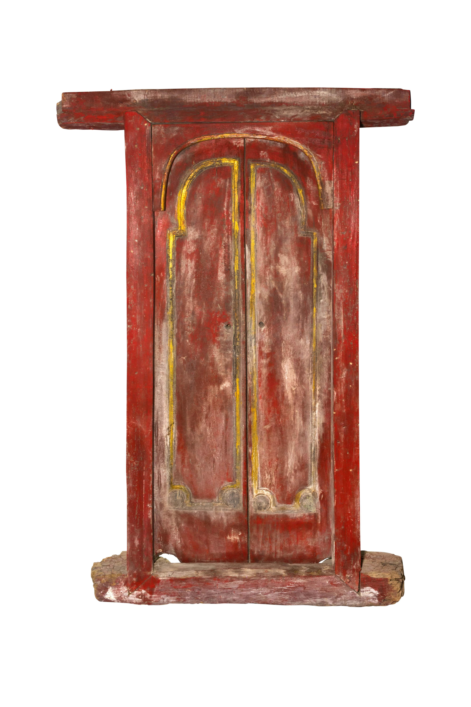 Double wooden door Indonesia red