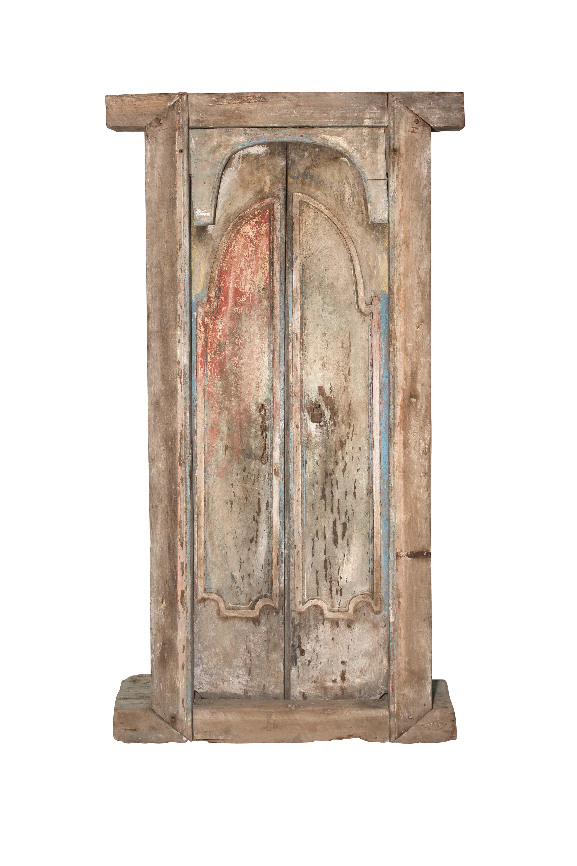 Double wooden door Indonesia brown