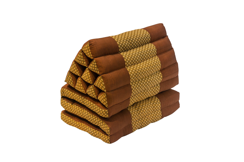 Cojín Tailandés Plegable marrón- amarillo