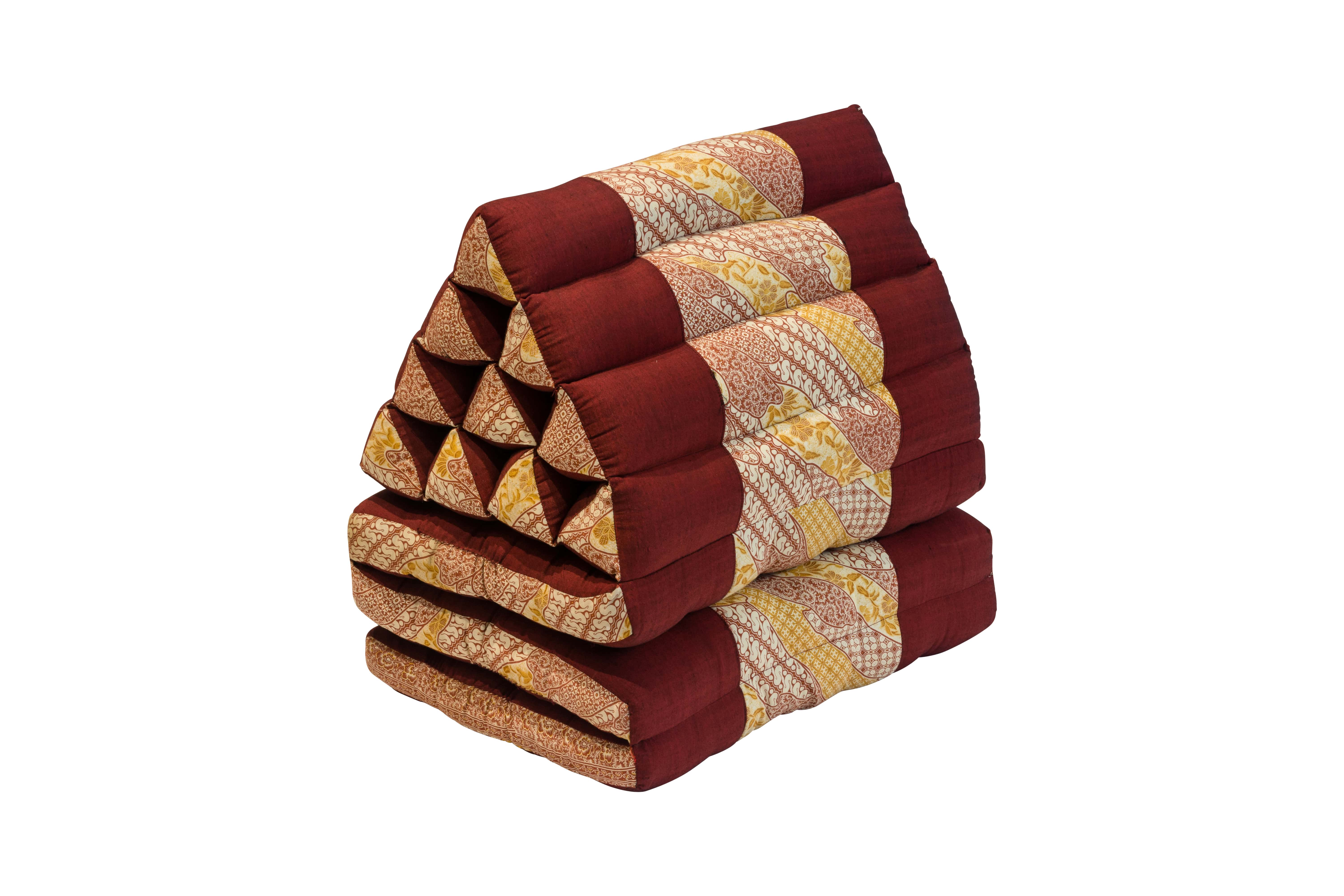 Foldable Thai cushion red - rosewood