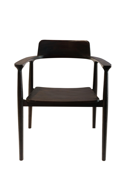 Brown color teak wood chair