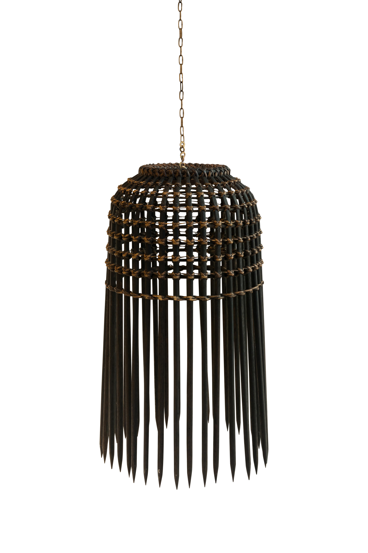 Lámpara estilo camaronera en madera