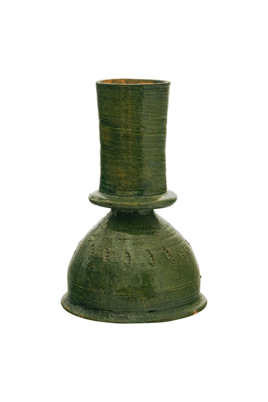 Mexican Candelabra in green ceramic