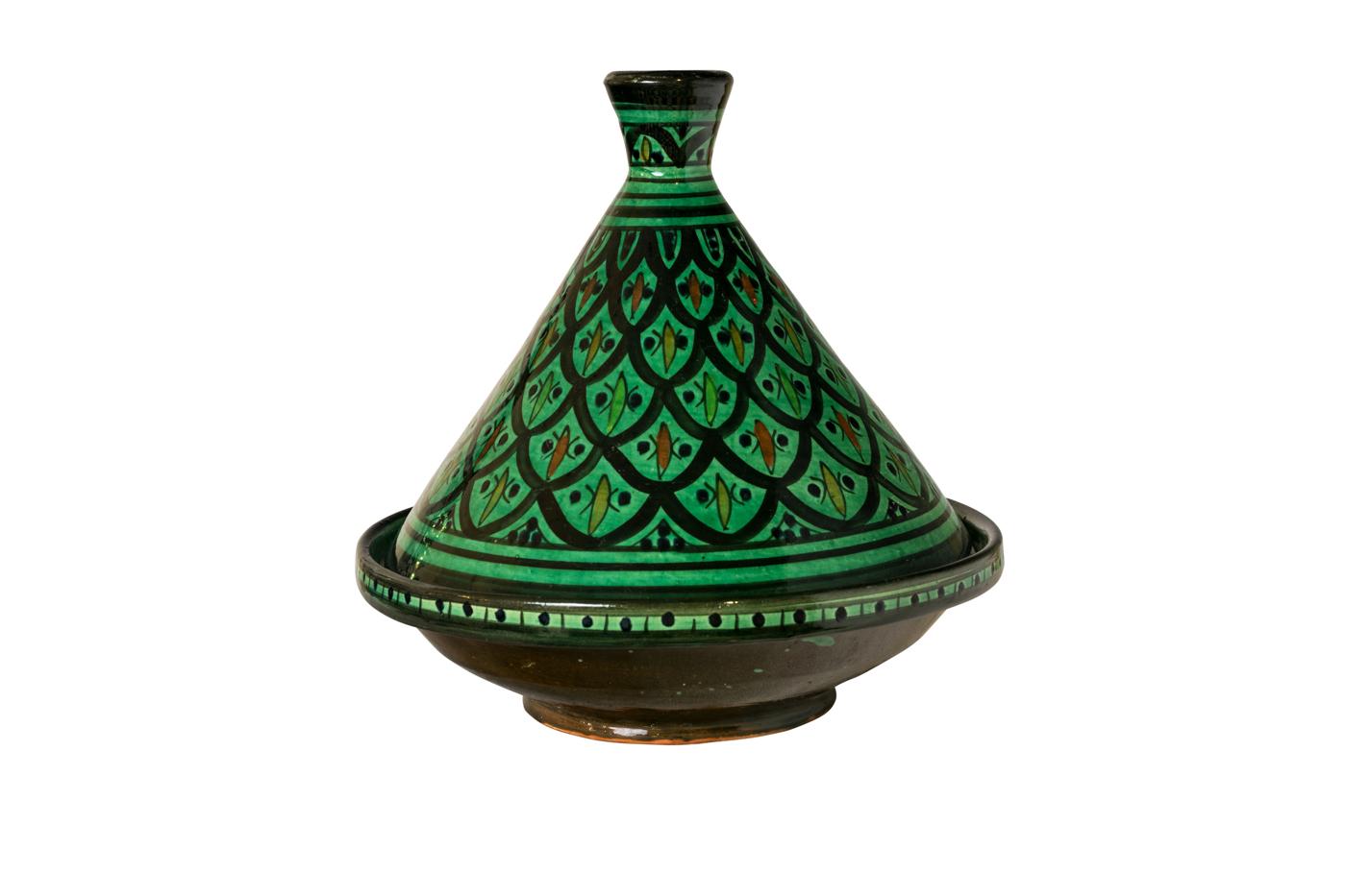 Tajín Marroquí encerámica verde