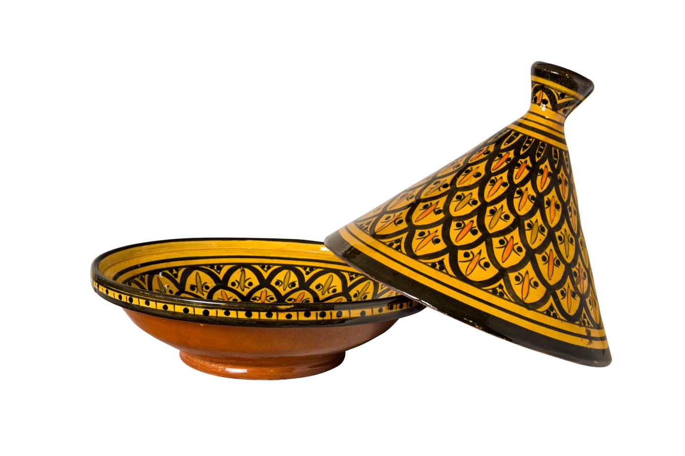 Tajín Marroquí en cerámica amarillo