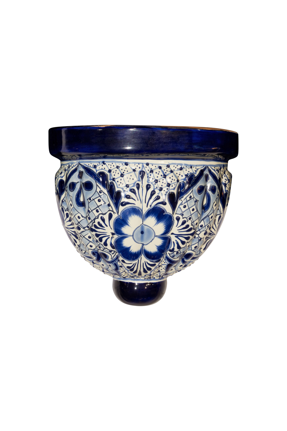 Talavera wall lamp blue