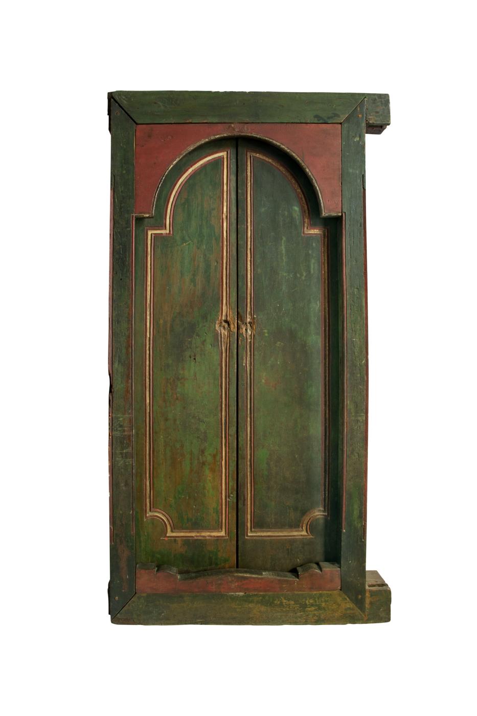 Double wooden door Indonesia green