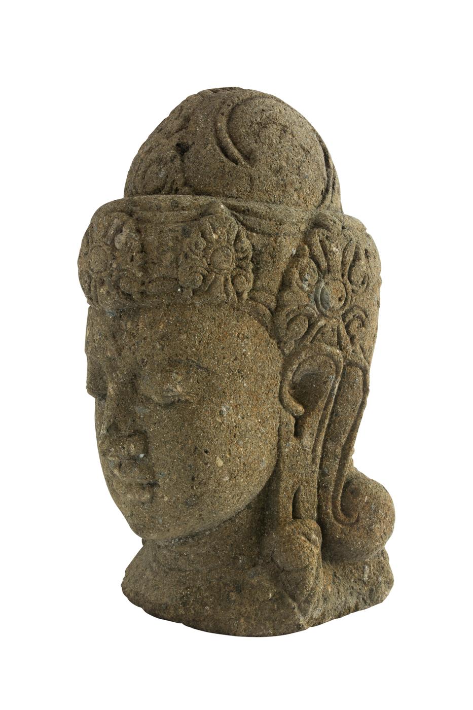 Escultura tallada cabeza de buda