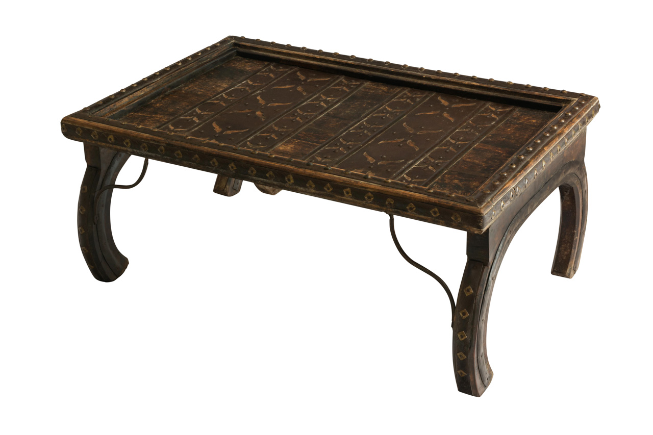 Mesa India madera y metal