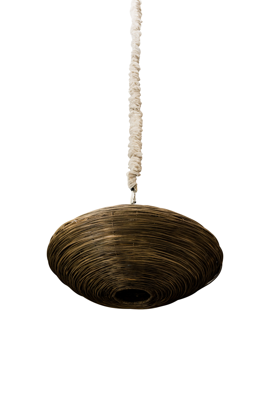 Lámpara ovalada en rattan