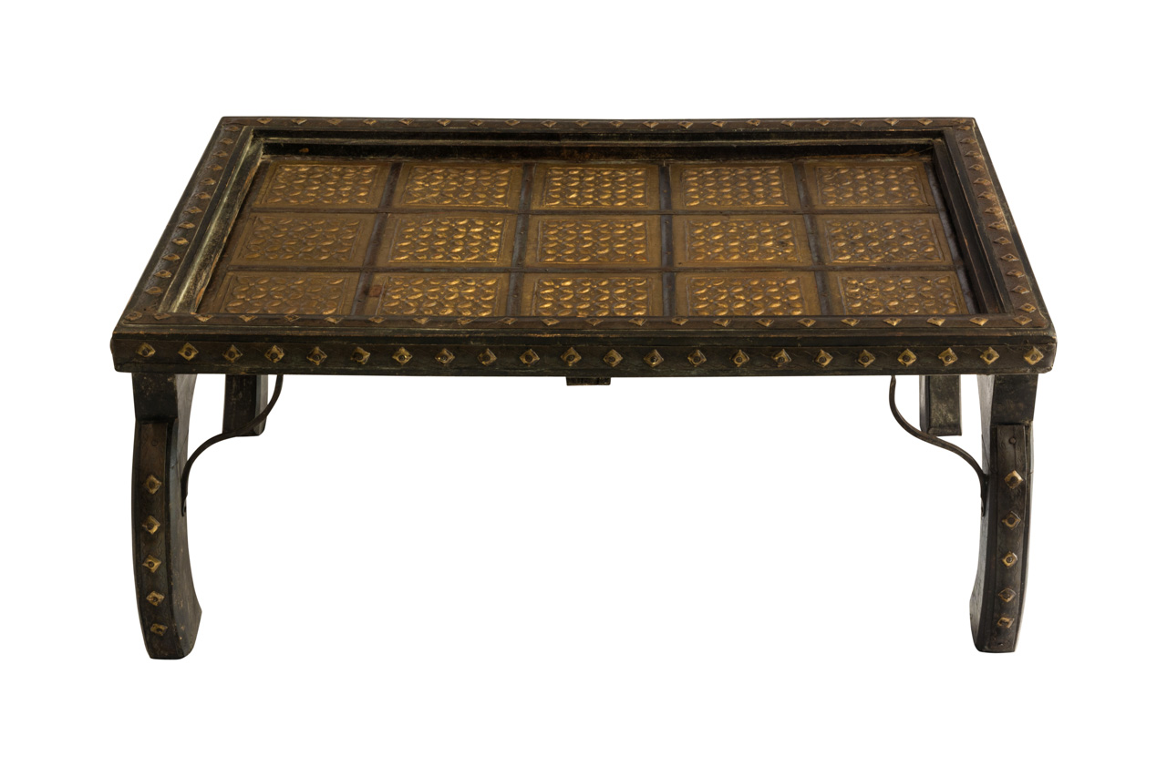 Indian table wood and metal