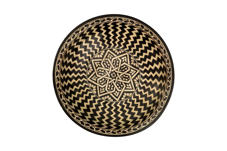 Plato cerámica Marroquí Líneas Radiantes