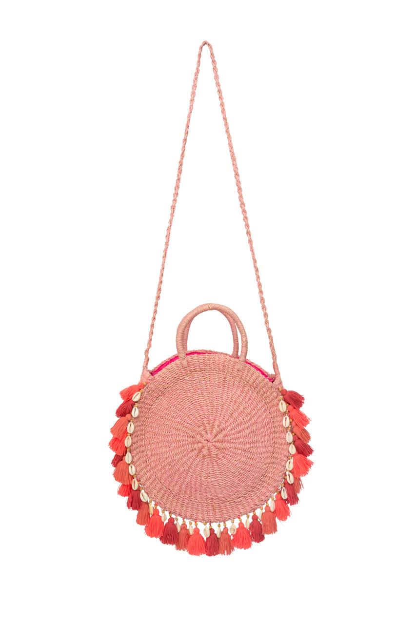 Pink ticao abaca handbag
