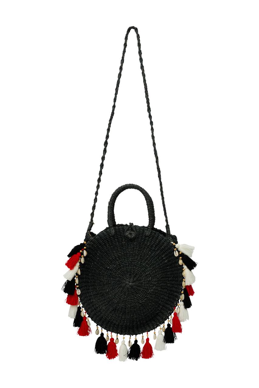 Ticao abaca handbag black