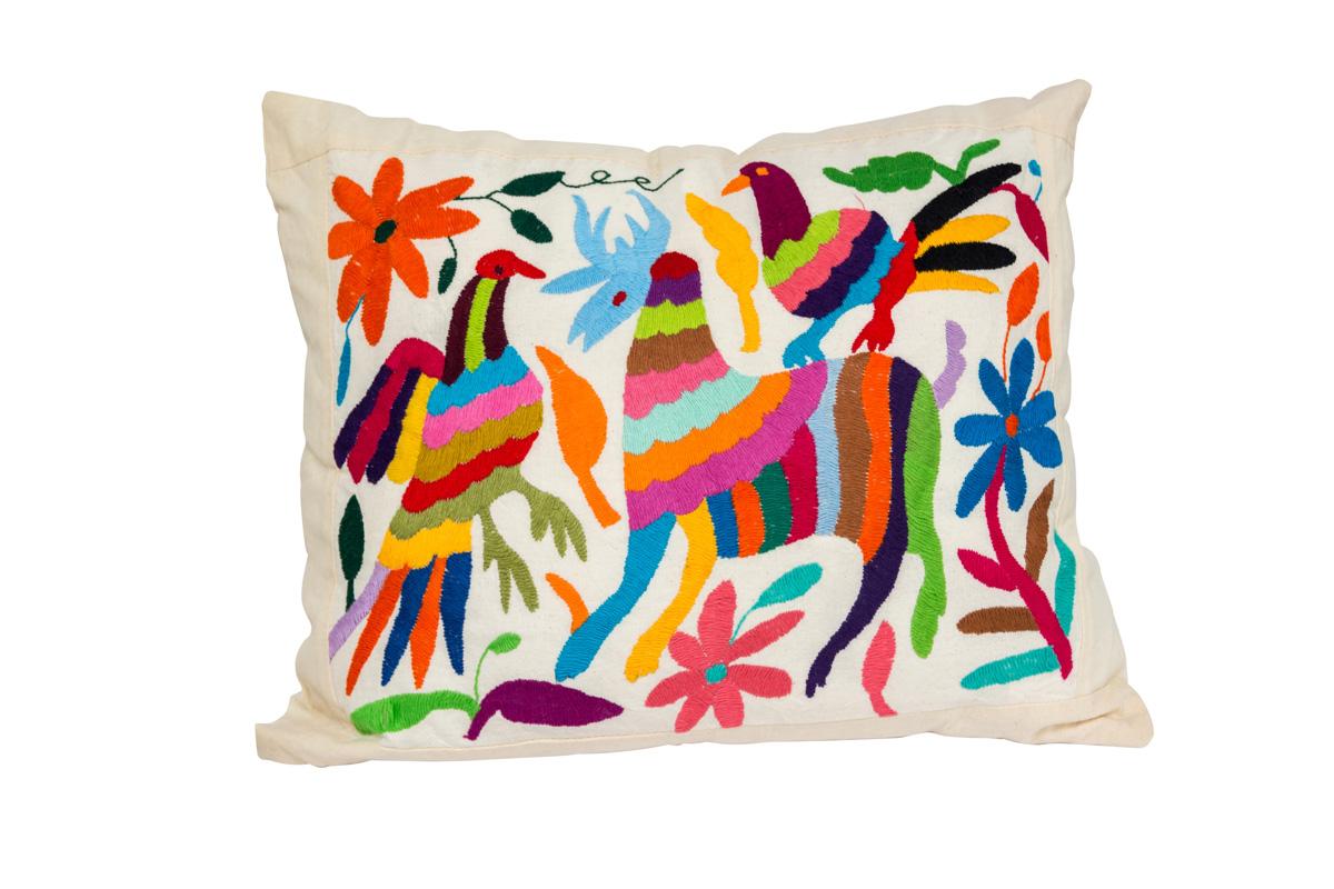 Otomi Bird Cushion