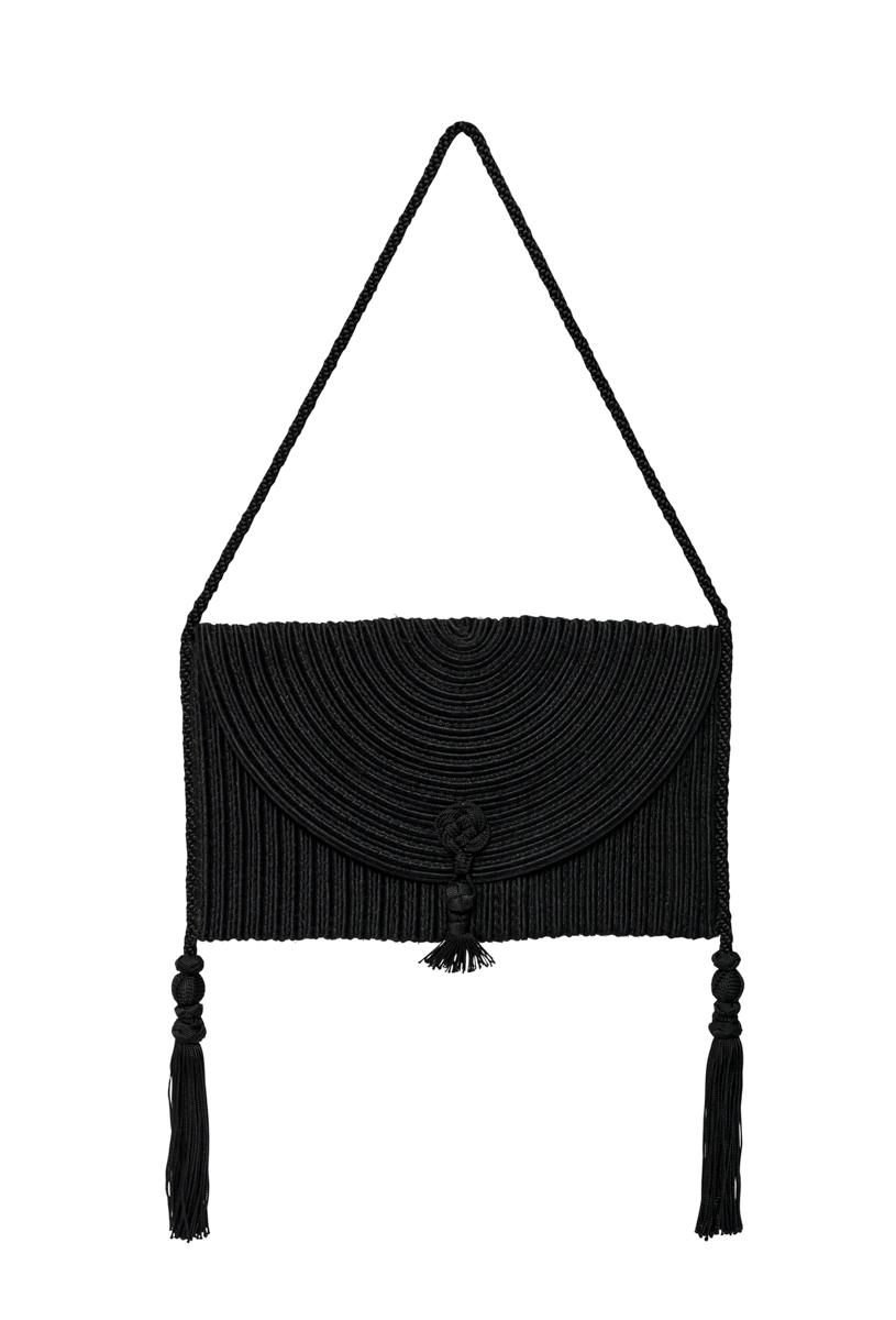 Black Silk Thread Bag