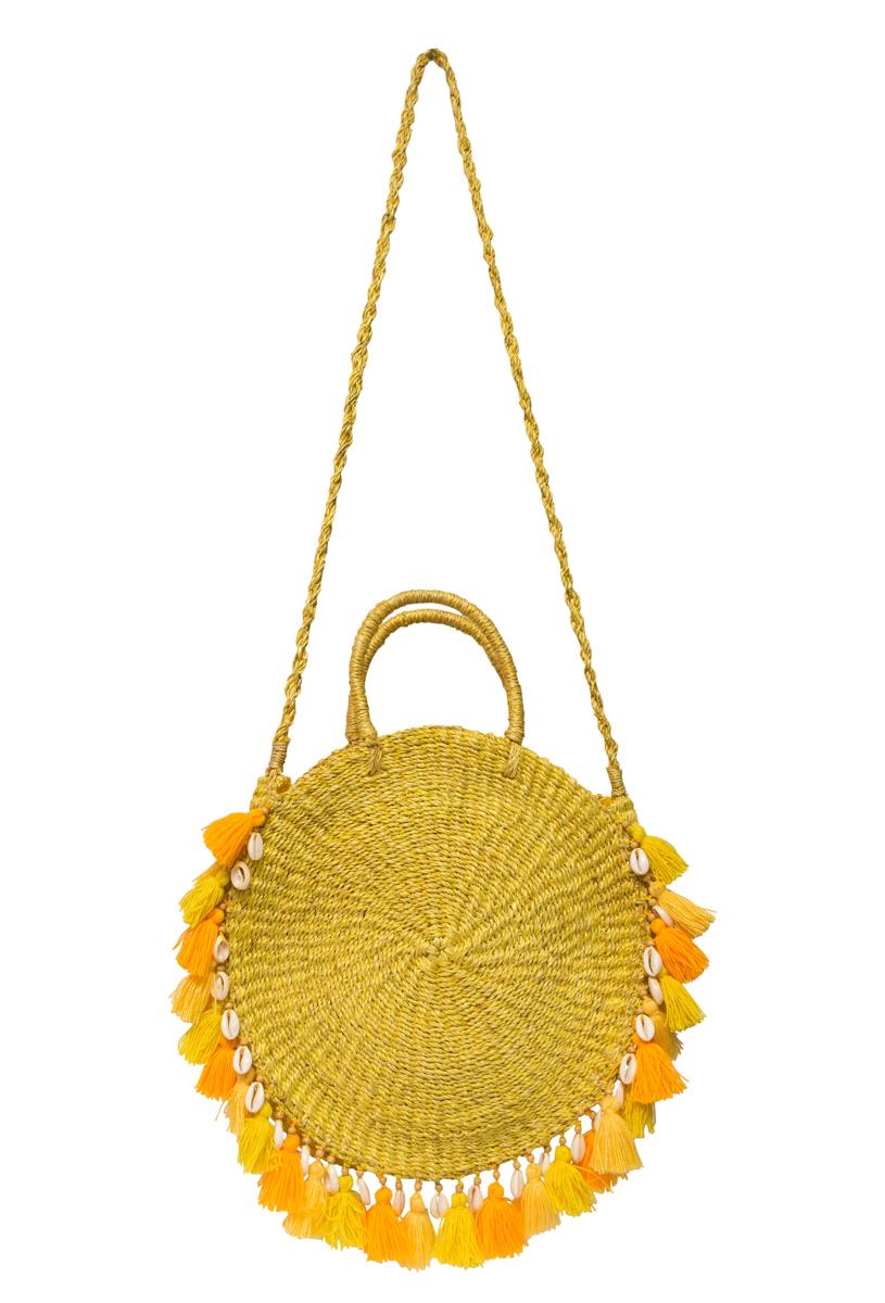 Yellow ticao abaca handbag