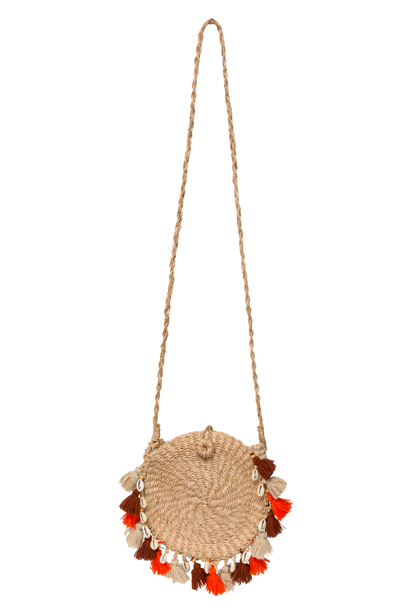 Ticao abaca bag with fringes