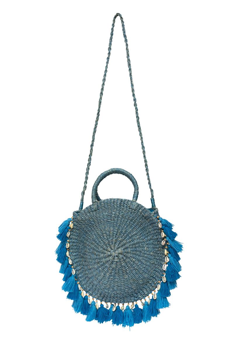 Blue ticao abaca handbag