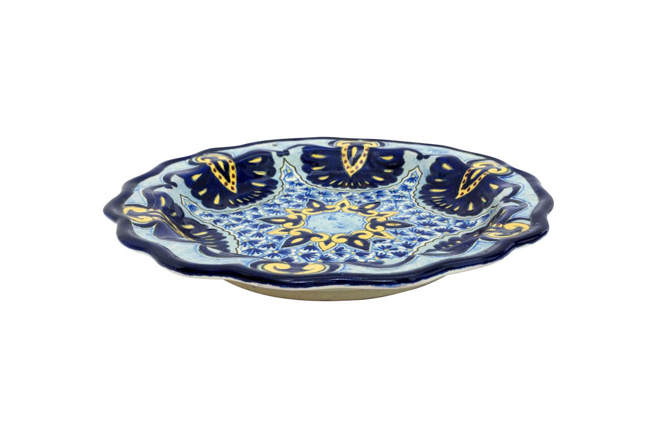 Bandeja redonda en cerámica Uriarte Talavera