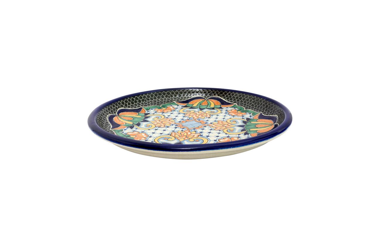 Plato de servir en cerámica Uriarte Talavera